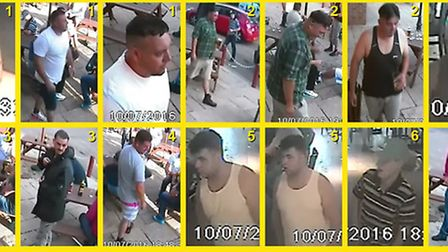 Do you recognise any of these seven men? They may be able to help an investigation into the shooting