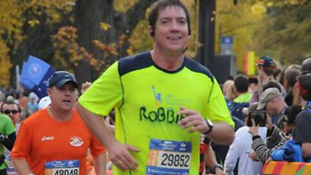 Robert Hegarty from Letchworth, pictured running the New York City Marathon, is now set to go the di