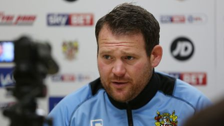 Darren Sarll speaks to The Comet at the training ground press conference.