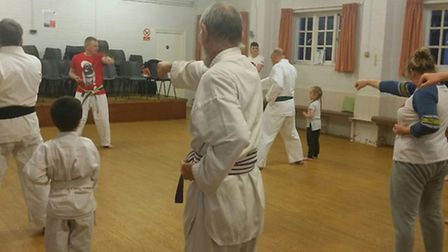 ATSK Letchworth Karate Club's charity night for Comic Relief on Monday. Photo: Ali Sheriff