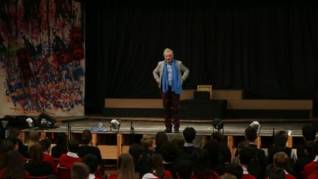 Sir Ian McKellen talks to students of The Priory School in Hitchin about equality.