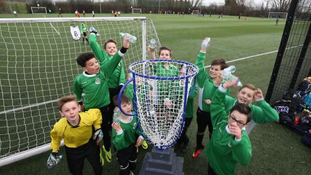 Weston Primary School's football team at the Danone Nations Cup. Photo: Supplied