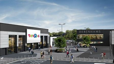 An artist's impression of what the outside of the store will look like when it opens this summer.