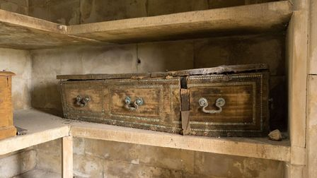 Emily Bulwer-Lytton's coffin in the Knebworth House mausoleum. Picture: Courtesy of Henry Lytton Cob