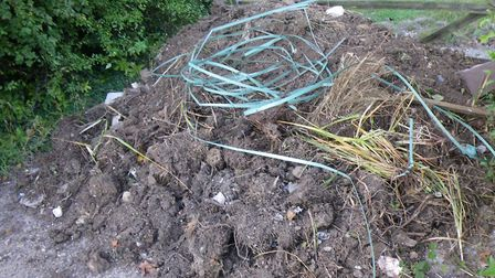 Waste dumped by Letchworth fly-tipper John Keenan in Tring. Photo: Courtesy of Bucks County Council