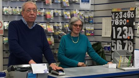Mike and Patricia Newman of Arena Stationers in Letchworth. Photo: Supplied