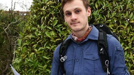 Joe Boot, 23, who is set to take on the Continental Divide Trail from Mexico to Canada along with Ba