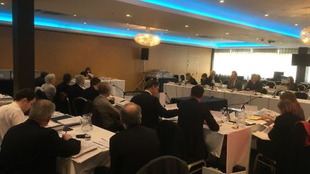 The Local Plan inquiry taking place at Stevenage's Ibis Forum