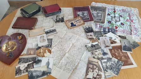 Some of the material rediscovered in Herts during the First World War centenary. Photo: Courtesy of