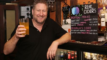 The Orange Tree landlord Rob Scahill has won North Herts CAMRA Cider pub of the year.