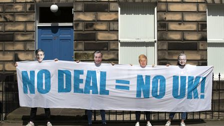 Young activists from Our Future, Our Choice hold a protest outside the Scottish Conservatives HQ. Ph