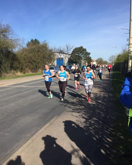 Runners for Sye Ryder at the Sandy 10 race.