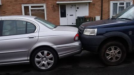 The Land Rover Freelander next to Aidan Heritage's car was itself shunted into the back of a Jaguar