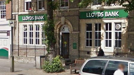 Lloyds Bank in Baldock is one of 100 branches set to close between July and October. Photo: Google S