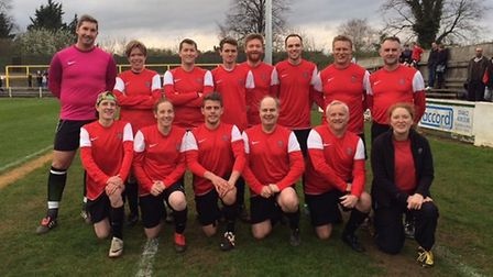 The Priory School's teacher's team proved to be good sports as the event raised a staggerring £4,000