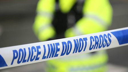 A grassed area in Stevenage is cordoned off after reports that a young woman was sexually assaulted