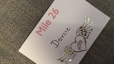 Kylie is running in memory of 26 angel babies, with mile 26 being for her daughter Darcie.