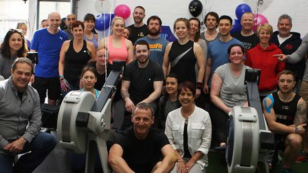 Ryan Adams rowing 100,000m at The Hub Letchworth to raise money for Cancer Research UK in honour of