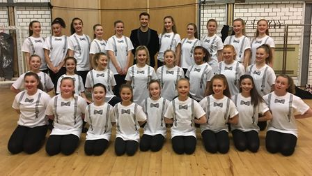 Strictly Come Dancing star Pasha Kovalev with dancers from Letchworth's First Steps Academy. Photo: