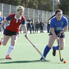 Molly Kerr-Barr in action for the Blueharts. Picture: Karyn Haddon