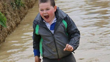 Lorraine's son Mason Bennetts at the Obstacle Arena in Baldock. Photo: Courtesy of Hertfordshire Com