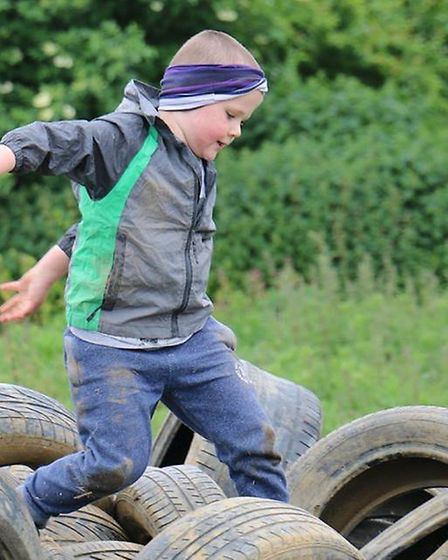 Lorraine's Isaac Bennetts at the Obstacle Arena in Baldock. Photo: Courtesy of Hertfordshire Communi