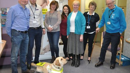 A previous Guide Dogs awareness day, which was held at Saffron Walden Building Society last year