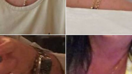 Some of the jewellery items which were stolen from a Saffron Walden home last week. Picture: ESSEX P
