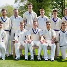 Saffron Walden Cricket Club. Back Left to Right: Simon Parmenter, Tom Bonham, Tim Moses, Alex Hancoc