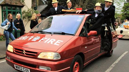 Fire crew inspired car. Picture: Clive Porter