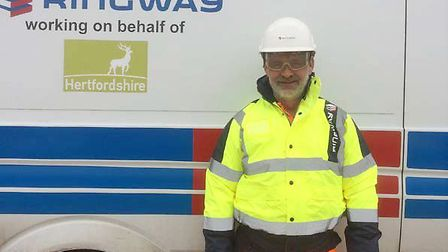 Ringway engineer Paul Wheeler, who used CPR to save a man in St Albans