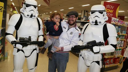Comet reporter JP Asher with son Thomas, 2Picture: Kevin Lines