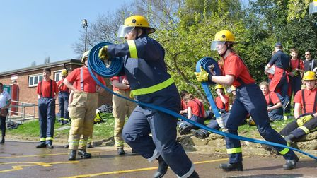 Hose running during the Beds fire cadets competition. Picture: Beds Fire and Rescue