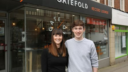 Gatefold Records owners Nicola and Jak Utley.