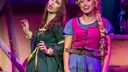 Gothel (Cameron Leigh) and Rapunzel (Samantha Noel) in Rapunzel the Musical at the Gordon Craig Thea