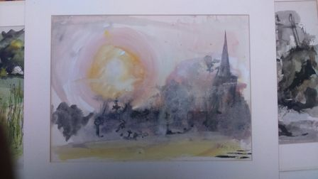 Peter Blagg is still very much at home in his studio in Baldock