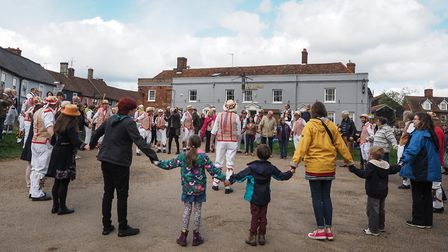 Morris Dancing in Thaxted in the Bank Holiday sunshine. Picture: CELIA BARTLETT