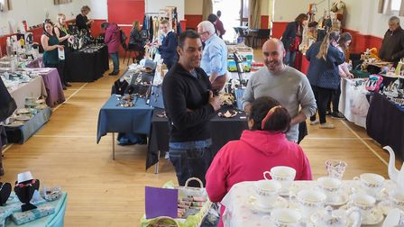 Visitors to the Thaxted Scouts' Craft Fair. Picture: CELIA BARTLETT