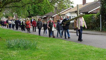 Potton's Walk of Witness on Good Friday. Picture: Dave Thompson