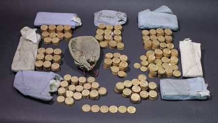 The hoard Picture: PETER REAVILL/THE TRUSTEES OF THE BRITISH MUSEUM