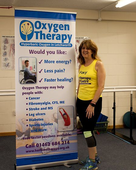 Donna Fox is running the London Marathon for the Herts MS Therapy Centre.