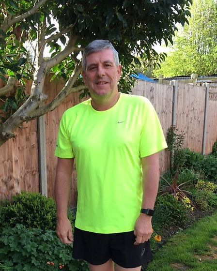 Andy Plummer is running the London Marathon for Garden House Hospice Care.
