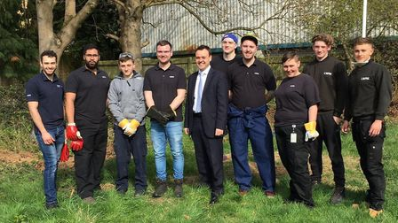 Apprentices Tom Coles, Ross Burroughs, Sameed Gilani, Sarah Lee, Max Young, Charlie Wilcox, Alex Ba