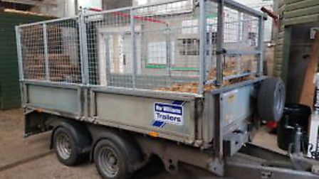 The muck trailer, which was bought for the science unit at Saffron Walden County High School followi
