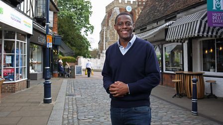 The Hitchin and Harpenden conservative candidate Bim Afolami in Hitchin. Picture: Danny Loo