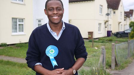 Hitchin and Harpenden conservative candidate Bim Afolami in Westmill. Picture: Danny Loo