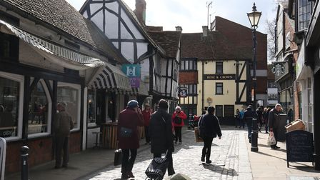 Hitchin town centre.
