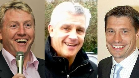 West Ham United legends Frank McAvennie, Tony Gale and Tony Cottee. Pictures: Champions Speakers/Egg