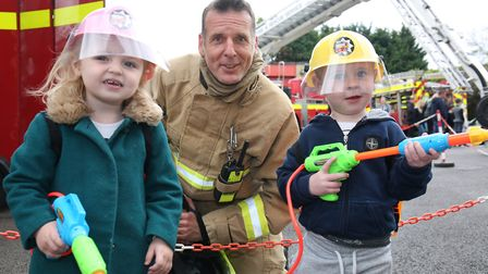 Children at Baldock fire station open day. Picture: Danny Loo
