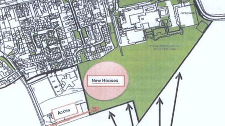 A map included in the planning application, showing where the proposed housing would go. Picture: Ph